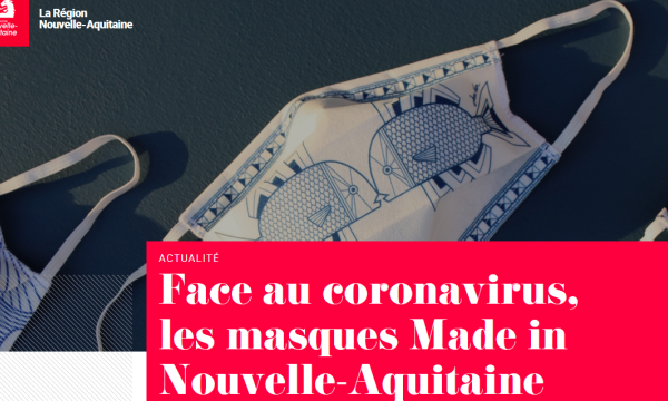 Des masques Made in Nouvelle-Aquitaine